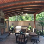 Patio Fan and Lighting installed by Dallas Landscape Lighting