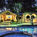 Outdoor Living Room frisco landscape lighting