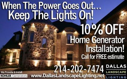 Dallas home generator install