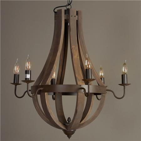 Wine Barrel Chandelier Installed By Dallas Landscape Lighting Dark Wood