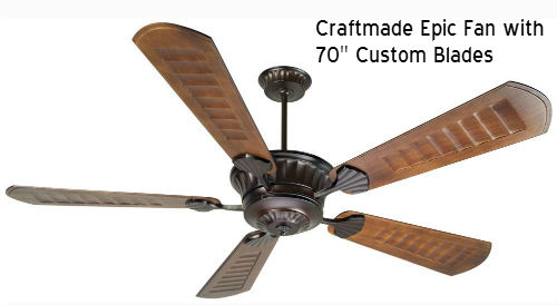 Craftmade Epic fan installed by Dallas Landscape Lighting