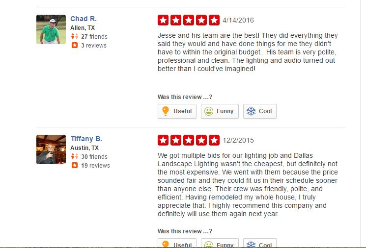 Chad-yelp-review-DLL - Dallas Landscape Lighting