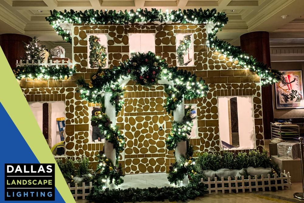 Christmas Decoration Installation - Dallas Landscape Lighting