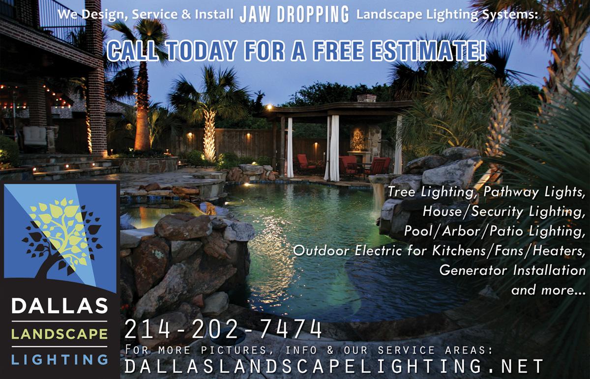 Dallas Landscape Lighting Lakeside Living Ad