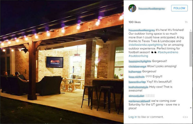 reviews of dallas landscape lighting instagram