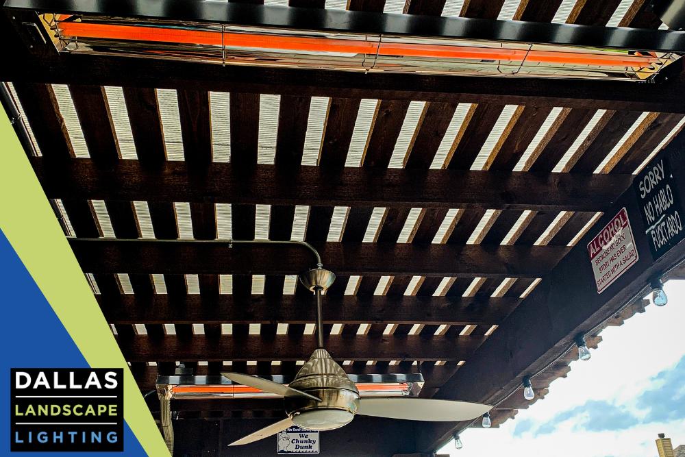 Outdoor Heater Installation - Dallas Landscape Lighting
