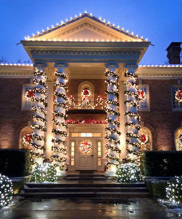 Professional Christmas Lighting Installation - Dallas Landscape Lighting