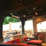 Highland Park outdoor living room lighting installed by Dallas Landscape Lighting