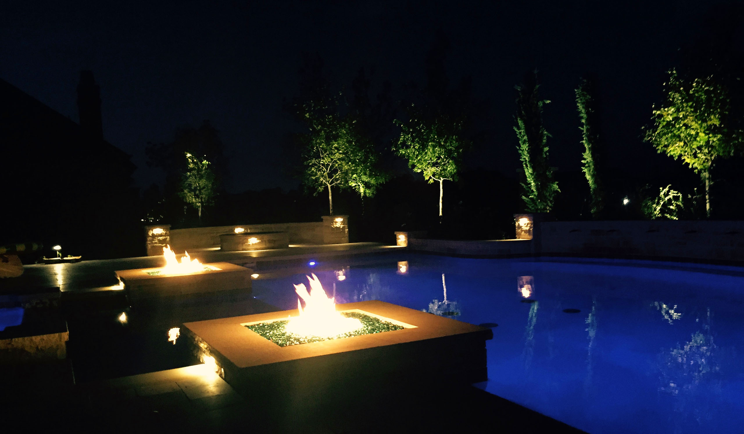 Allen landscape lighting installation dallas landscape lighting frisco landscape lighting and fire features aloadofball Gallery