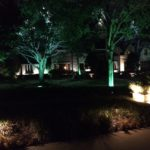 Tree uplighting, entry lights and exterior lighting installed by Dallas Landscape Lighting