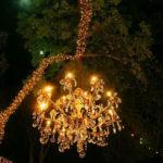 Outdoor Chandelier Wedding Lighting | Dallas Landscape Lighting