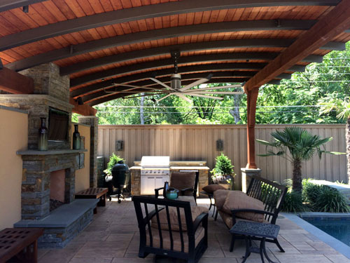 Arbor Outdoor Fan Installation In Dallas