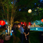 Landscape Lighting and party lanters installed by Dallas Landscape Lighting
