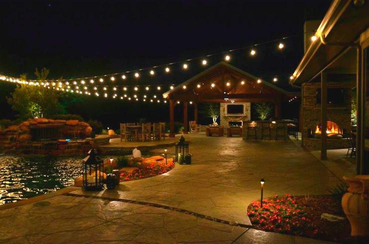 arrives a807d d2d4c Pictures: Holiday / String Lights Dallas Landscape Lighting