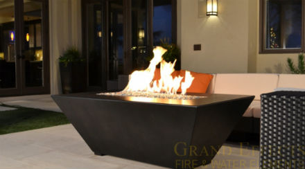 fire pit installed by Dallas Landscape Lighting