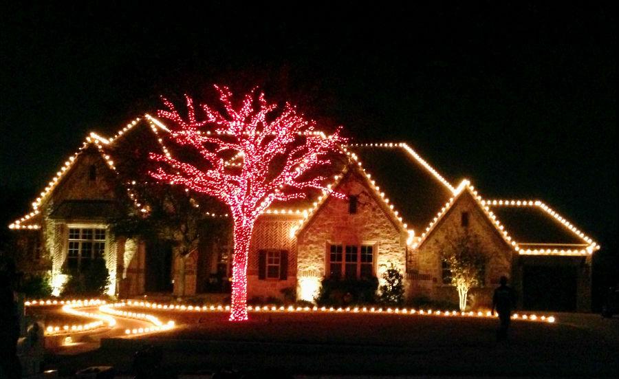 red tree christmas lights plano bg - Plano Christmas Lights
