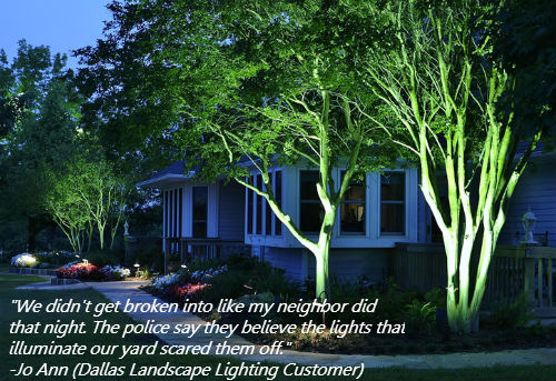 Dallas Landscape Lighting safety security lighting
