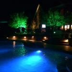 plano outdoor lighting - pool & tree lights