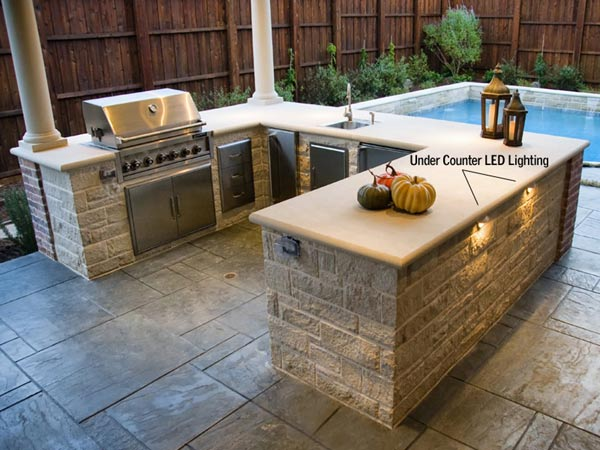 outdoor-kitchen-lighting - Dallas Landscape Lighting