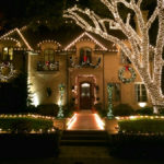 Tree Wrapped Christmas String Lights Dallas Landscape Lighting